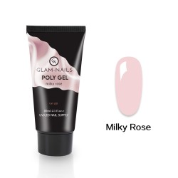 Polygel Glam-nails Milky rose