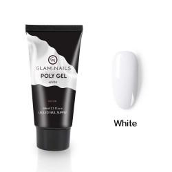 Polygel Glam Nails white