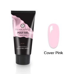 Polygel Glam-Nails cover pink