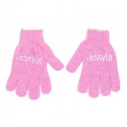 gants exfoliant rose
