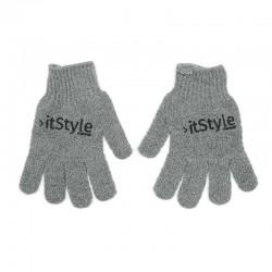 gants exfoliant gris